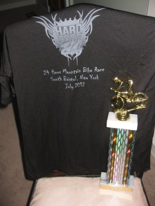 Trophy and t-shirt